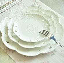 Nice high quality dinner plate ceramic plate and nice home decor