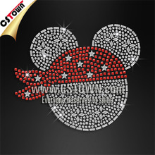 Hot sale cute mouse hotfix rhinestone designs for clothing