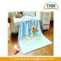 cartoon design imprimé coral fleece couvertures de bébé à tricoter les modèles animaux enfants couverture