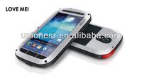 Love mei Waterproof+Dustproof+Dropproof Metal Aluminum Case For Samsung Galaxy S4 Mini