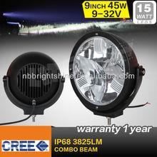 9inch 45w led headlight,led driving light,spot beam 12V/24V