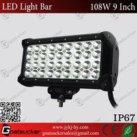 108w 9inch led light bar Off Road Go Karts For Sale