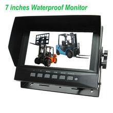 "4 AV inputs wide view reversing camera kits 7"" waterproof IP69K"