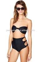 transparent bandeau bikini tops high waist fashion bikini swimwear
