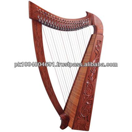 19 cordas da harpa/rosa madeira 19 cordas da harpa com leaver