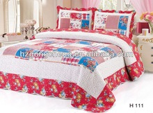 OEM branded 100% Cotton patchwork quilt with different designs