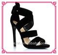Sexy moda nuevas fotos de negro sandalias del tacón alto para las para mujer