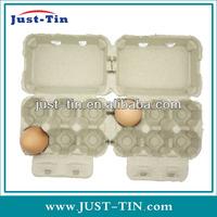 Paper Pulp 2*6 cell flap top custom printing Egg carton OEM