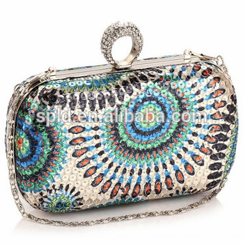 2014 colorful women fashion sequin diamond cheap luxury famous brand handbags