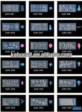 2014 temporary new design fashion 3d nail art mold for nail art 3D mold-37-54