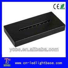 Black wooden acrylic rectangle base