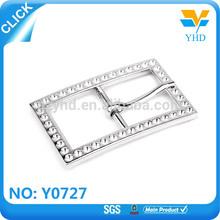 Wholesale custom fashion small screws crystal rhinestone buckle for coat belt