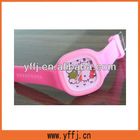 Silicone jelly quartz wrist watch, Advertising wrist watch, Waterproof silicone jelly watch