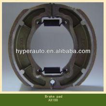JH70 AX100 motorcycle china brake shoes manufacturing