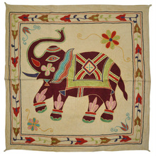 Designer Embroidered Handmade Cotton Home Decor Wall Tapestry, Beautiful Indian Work Wall Hanging