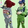 South Korean Space Suit For Kids Letters Thick Boy Sets Clothes