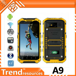 unlocked cell phone MTK6589 quad core 4.3inch 1GB/2GB RAM 16GB ROM 8.0mp camera NFC smart phone land rover a9
