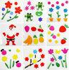 gel stickers home decoration glass stickers Christmas gel sticker