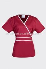 Wholesale 35%polyester contrast color nurse scrub suit design