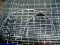 Heavy duty galvanized serrated steel bar grating weight