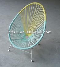 oval PE rattan/ wicker aluminum outdoor garden chairs