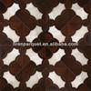 wood marble inlay flooring parquet flooring LIREN-M001