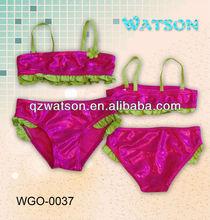foil printing fabric red bikini swimwear tankini beachwear
