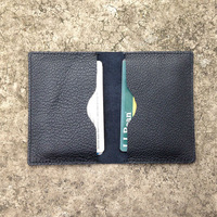 wholesale black eco-friendly genuine cow leather travel card hodler 100% Italian leather credit card wallet