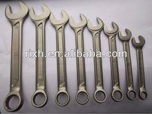 Titanium alloy thin combination wrench set,titanium tools