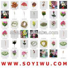 Secas arranjos florais fabricante do mercado de Yiwu para flores artificiais