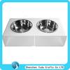 Elegant white acrylic two bowls for pet dog bowl cat feeder