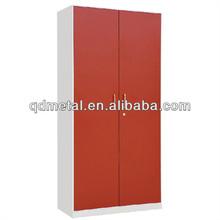 Storage furniture metal school locker, red wardrobe