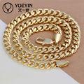 2014 18k oro cadenas de cuello para los hombres