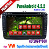 android 4.2.2 touch screen bluetooth tv usb can bus android 2 din car dvd gps VW t5