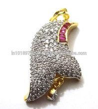 Metal Alloy Stones Ganga Jamana Polic Pendant Jewelry Exporter Jaipur