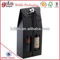 Cartulina elegante de lujo,Cajas de vino con ventana de PVC