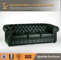 De alta qualidade chesterfield moderno sofá de couro sala de estar mobiliário made in china
