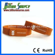 1GB 2GB 4GB 8GB 16GB silicone bracelet usb flash drive with warranty