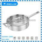24cm & 26cm stainless steel straight shape frying pan