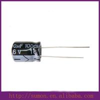 High quality 16v 1000uF aluminium electrolytic capacitor