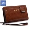Fashion brand cowhide leather wallet zipper handbags wallet