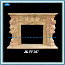 Nude Woman Statue Fireplace Polished Outdoor