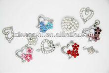 Multi size cross ,flower,fish bone ,heart cross rhinestone/crystal pendant