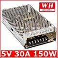 150w 5v ce y rohs aprobados de ca/dc convertidor de energía s-150-5 de suministro de energía de alimentación universal 5v