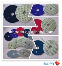 Diamond Dry Polishing Pad 5 Step Granite Polishing Pad 80/100 Flexbile Stone Abrasive Disc Polishing Quartz,Marble,Granite