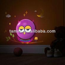 Kids Room 3D Cute Owl Light Operated LED Night Lamp sticker