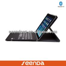 Hot selling Ultra thin Detachable wireless bluetooth Embossed keyboard for ipad mini/ipad air