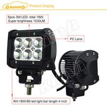 "Manufacture 4"" 1530LM led flashing light bar"