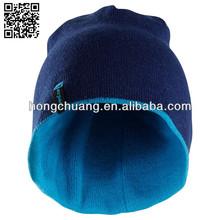 100% acylic/cotton high quality knit hats beanie