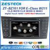 ZESTECH touch screen car radio 2din headunit gps for Mercedes Benz E Class W211